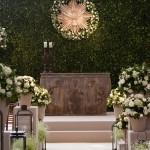 A cor da decoração do casamento