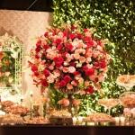 Decoração de Casamento Rosa e Vermelha