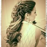 Penteado de Noiva Meio Preso