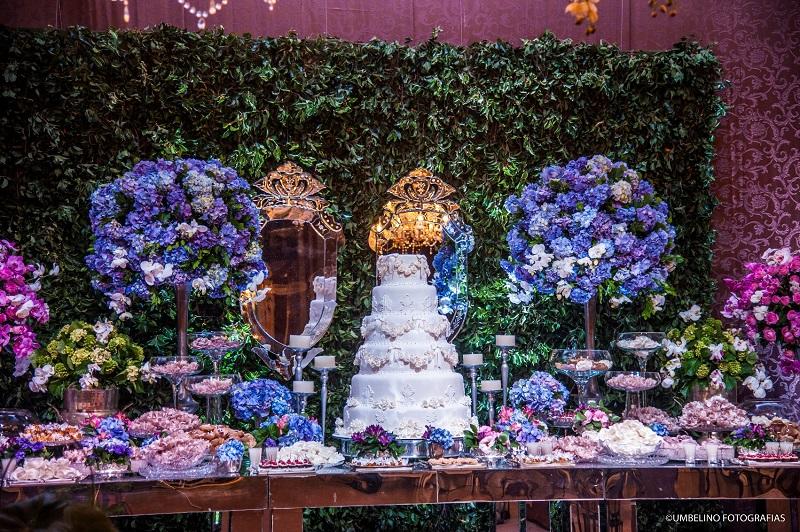 Decoraç u00e3o de Casamento Rosa e Azul Peguei o Bouquet