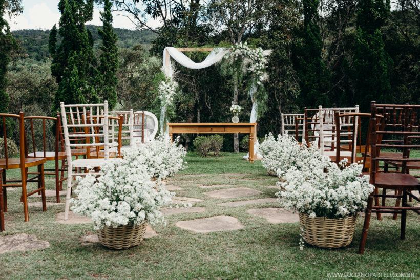 Casamento de dia no Sítio